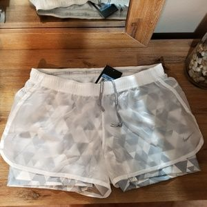 Bundle White and Pink Nike Dri Fit Shorts
